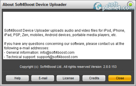 Soft4Boost Device Uploader Screenshot2