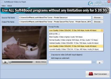 Soft4Boost Video to Flash Screenshot3