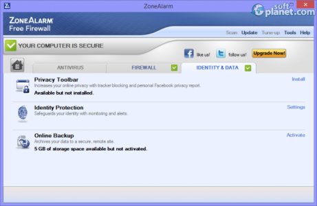 ZoneAlarm Free Firewall Screenshot3