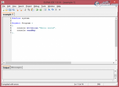 ELENA Integrated Development Environment Screenshot4