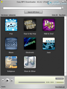 Easy Mp3 Downloader Music Categories