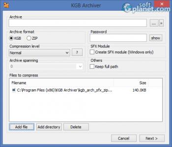 KGB Archiver Screenshot2