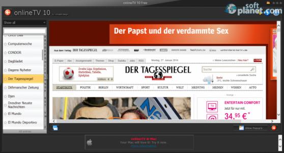 onlineTV Free Screenshot4