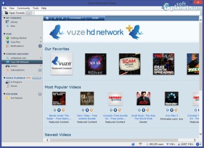 Vuze Bittorrent Client Screenshot3