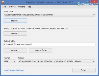 Free DVD Video Converter Screenshot2