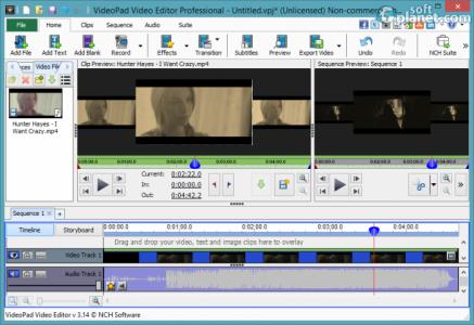 VideoPad Video Editor Screenshot5